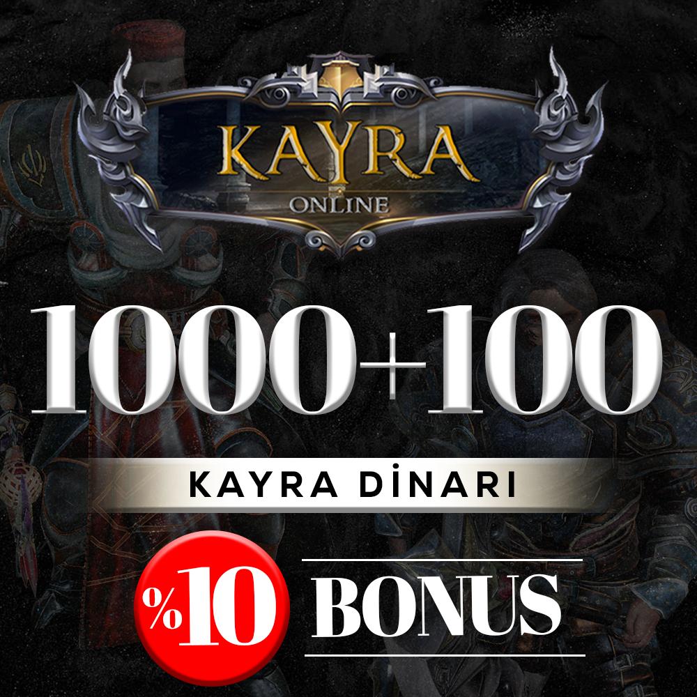 1000 KAYRA DİNARI (%10 BONUS) 1000+100=1100 DİNAR