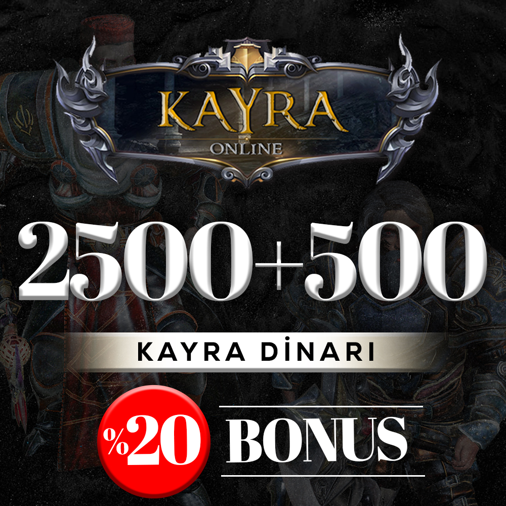 2500 KAYRA DİNARI (%20 BONUS) 2500+500=3000 DİNAR
