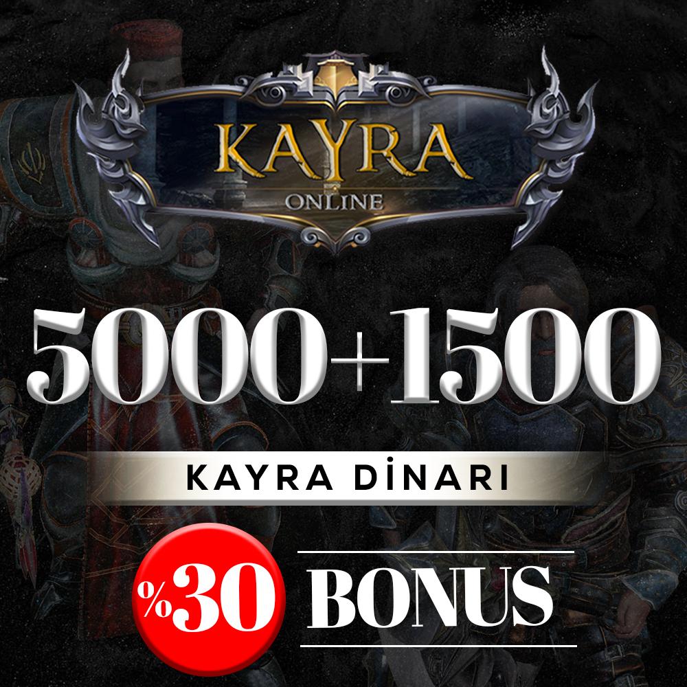 5000 KAYRA DİNARI (%30 BONUS) 5000+1500=6500 DİNAR