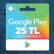 Google Play 25 TL Lords Mobile