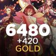 Onmyoji Arena 6480 + 420 Gold