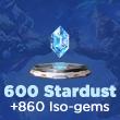 MARVEL Duel 600 Stardust + 860 Iso-gems