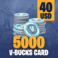 Fortnite 5000 V-Bucks Card - 40 USD