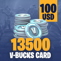 Fortnite 13500 V-Bucks Card - 100 USD