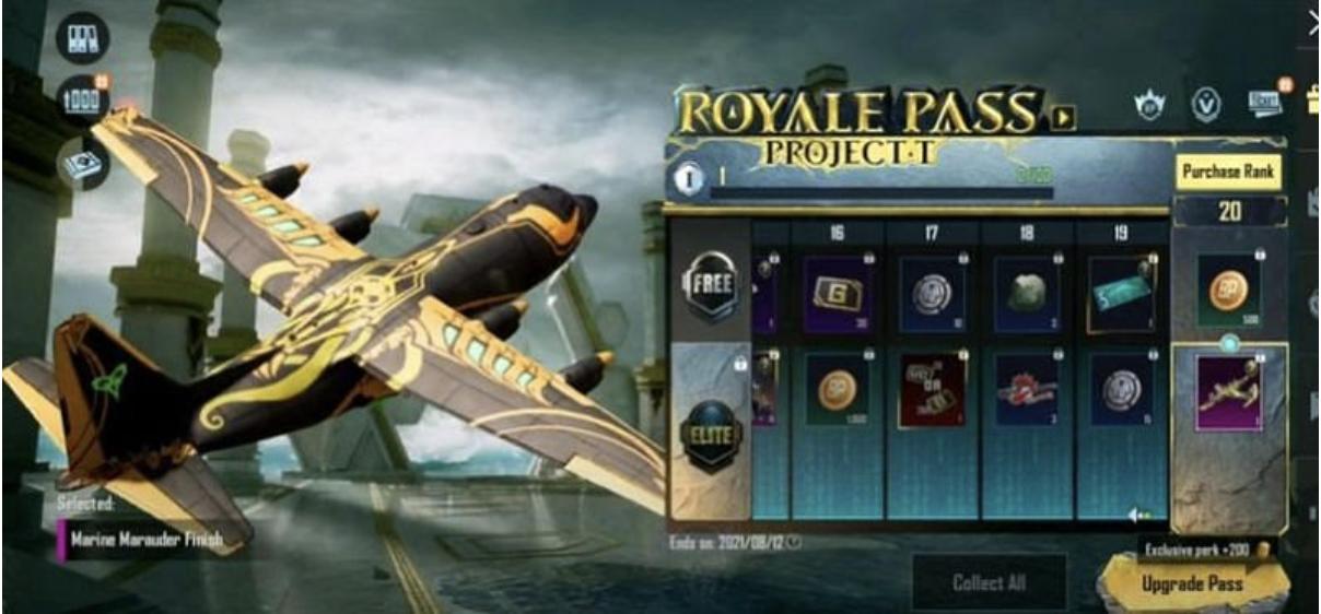 pubg royale pass project t