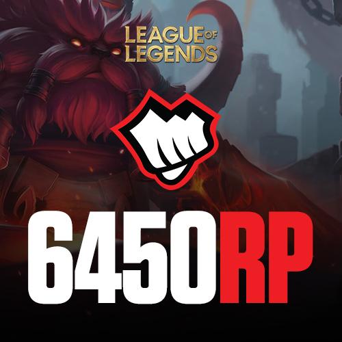 League of Legends 6450 RP Riot Pin