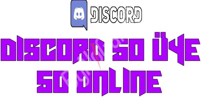 Discord 50 Üye ...
