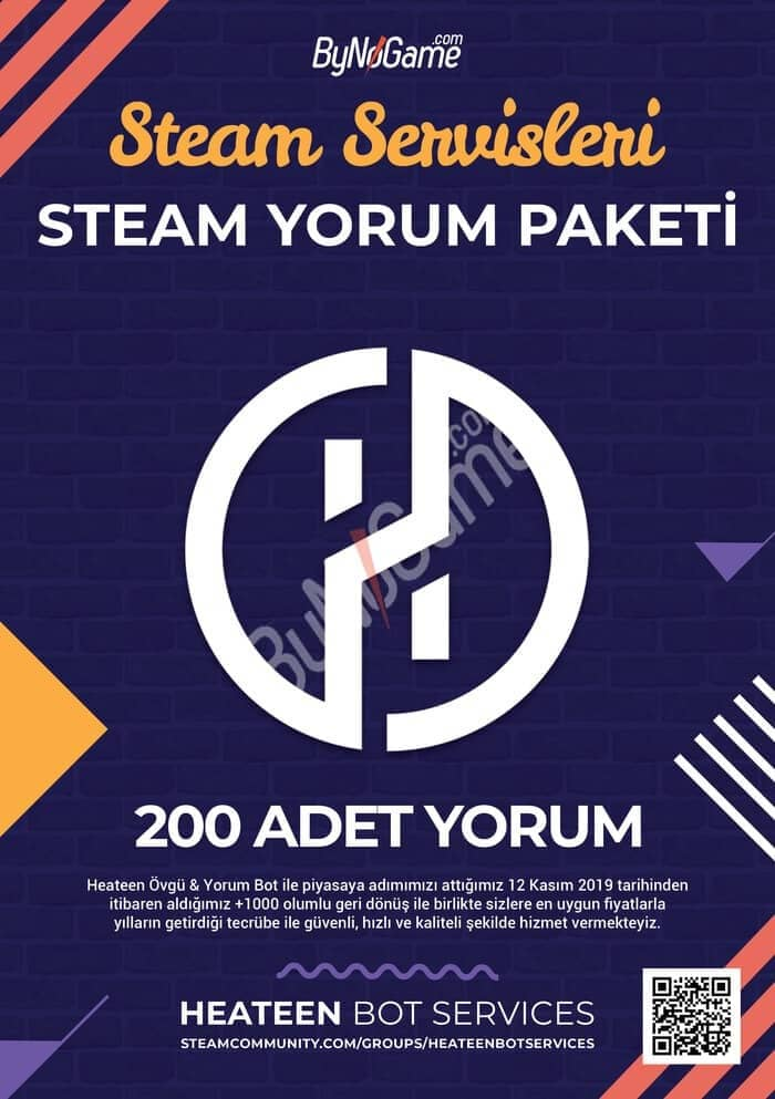200 Steam Yorum...