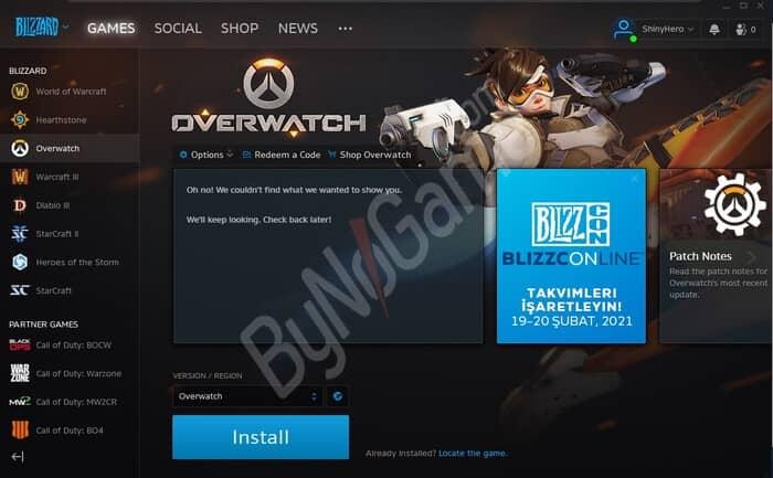 Overwatch hesap