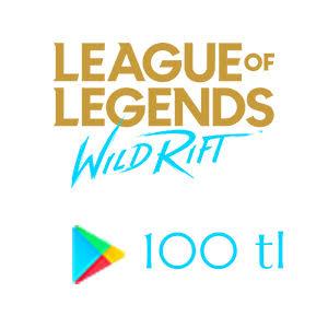 Google play 100 TL League of Legends: Wild Rift