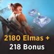 Free Fire 2180 Elmas + 218 Bonus