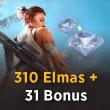 Free Fire 310 Elmas + 31 Bonus
