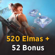 Free Fire 520 Elmas + 52 Bonus