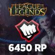 League of Legends 6450 RP