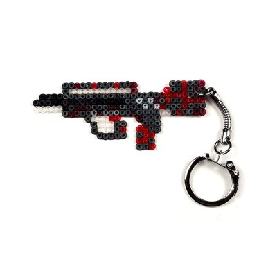 Pixel Art Famas Survivor Z Anahtarlık