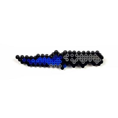 Pixel Art Flip Knife Doppler Rozet