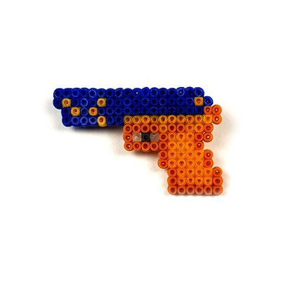 Pixel Art P2000 Lacivert-Sarı Rozet