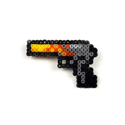 Pixel Art Desert Eagle Blaze Rozet
