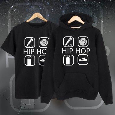 4 icon hiphop Kapşonlu + Tshirt Paketi
