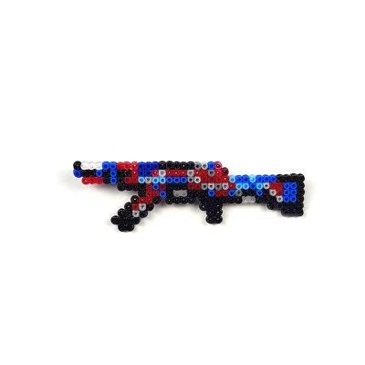 Pixel Art AK-47 Point Disarray Rozet