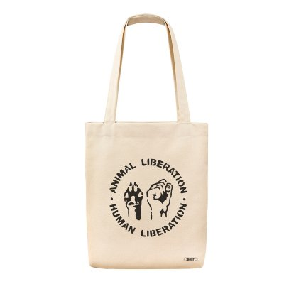 Animal Liberation Tote Bag Bez Çanta