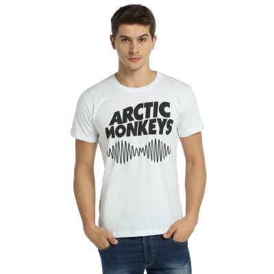 Arctic Monkeys Beyaz  T-shirt