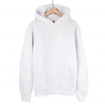 Basic Beyaz Kapşonlu Sweatshirt Hoodie (2 iplik)