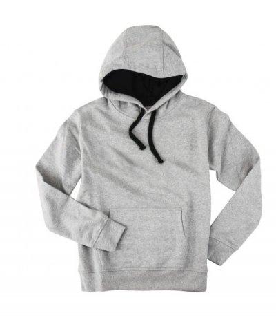 Basic Gri Kapşonlu Sweatshirt Hoodie  (2 iplik)