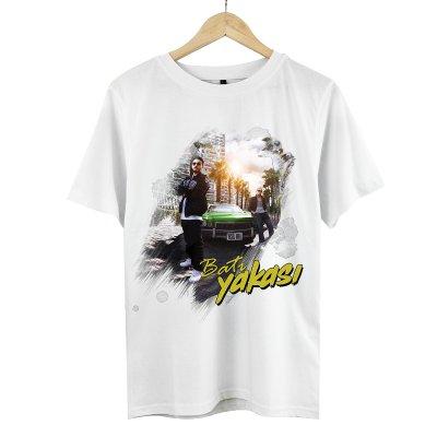 Batı Yakası T-Shirt (Beyaz)