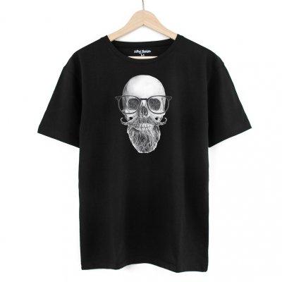 Beard Skull Black T-Shirt