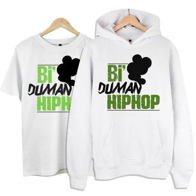 Bi Duman Hiphop Kapşonlu + T-Shirt Paketi
