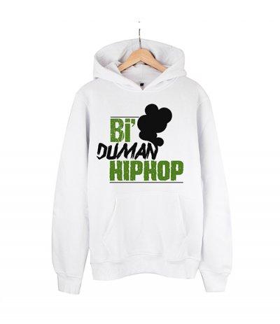 Bi Duman Hiphop Beyaz Hoodie