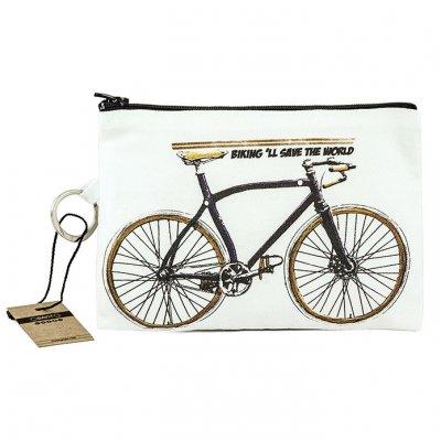 Bisiklet Bez Cüzdan Clutch El Çantası - B092-305b
