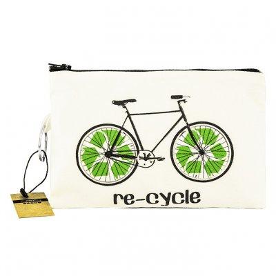Bisiklet Bez Cüzdan Clutch El Çantası - B092-354b