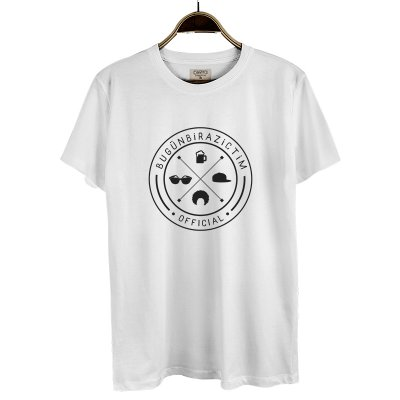Bugün Biraz İçtim 3 T-Shirt (Beyaz)