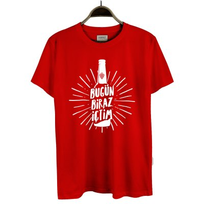 Bugün Biraz İçtim 4 T-Shirt (Kırmızı)