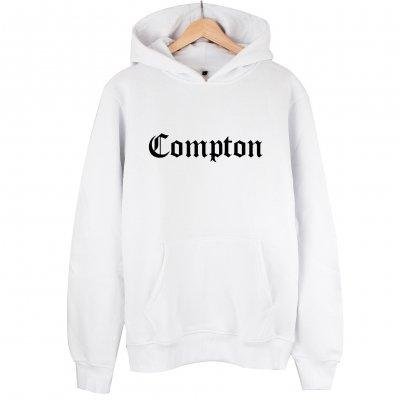 Compton Sweatshirt Kapşonlu Hoodie (beyaz)