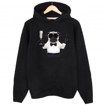 Pug Life Kapşonlu Hoodie Sweatshirt