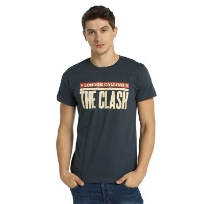 Clash London Calling Füme Erkek T-Shirt