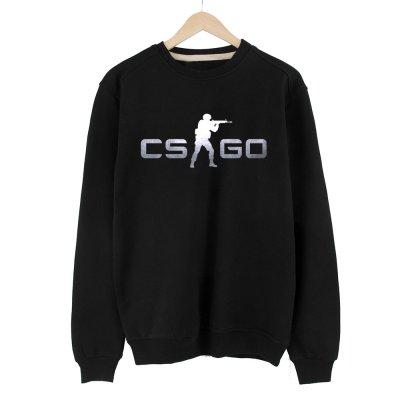 CS:GO Logo Gümüş Sweatshirt