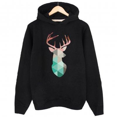 Deer Kapşonlu Hoodie Sweatshirt