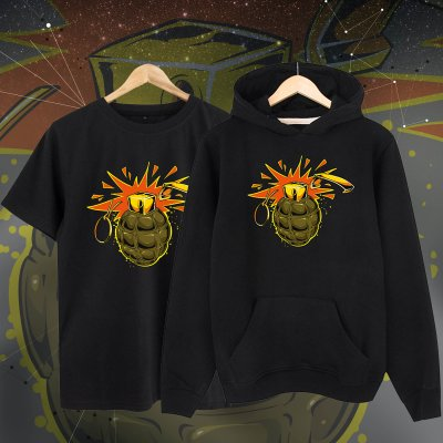 El bombası Kapşonlu + Tshirt Paketi