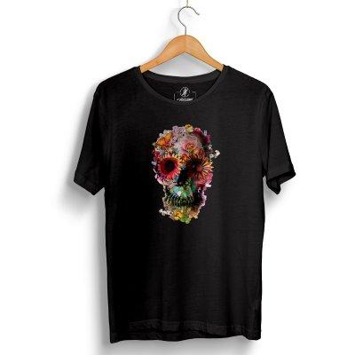 Flower Skull Black