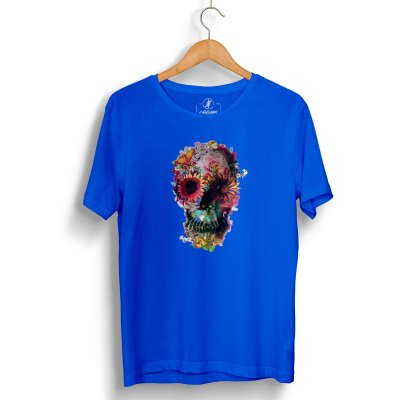 Flower Skull Blue