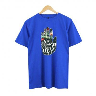 Hello Hand Blue T-Shirt