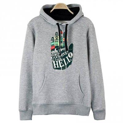 Hello Hand Kapşonlu Hoodie Sweatshirt
