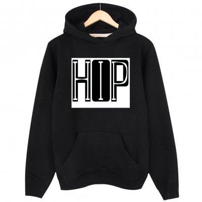 Hiphop Font Design  Kapşonlu Hoodie Sweatshirt