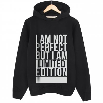 I am Not Perfect Kapşonlu Sweatshirt Hoodie
