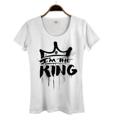 I am the King Beyaz Kadın T-Shirt