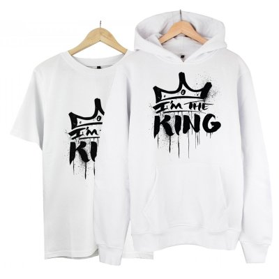 I am the King  Kapşonlu Alana T-Shirt 19 TL (Paket)